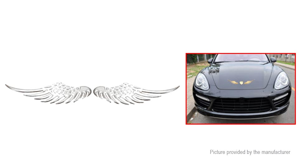2 93 Free Shipping 3d Eagle Wings Styled Auto Car Emblem Decal Sticker Pair Eagle Wings Silver Pair At M Fasttech Com Fasttech Mobile