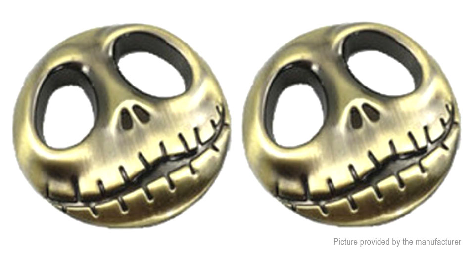 Pumpkin Skull Styled Car Decoration Decal Sticker (2-Pack)