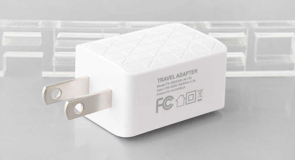 Dual USB Travel Wall Charger Power Adapter (US)