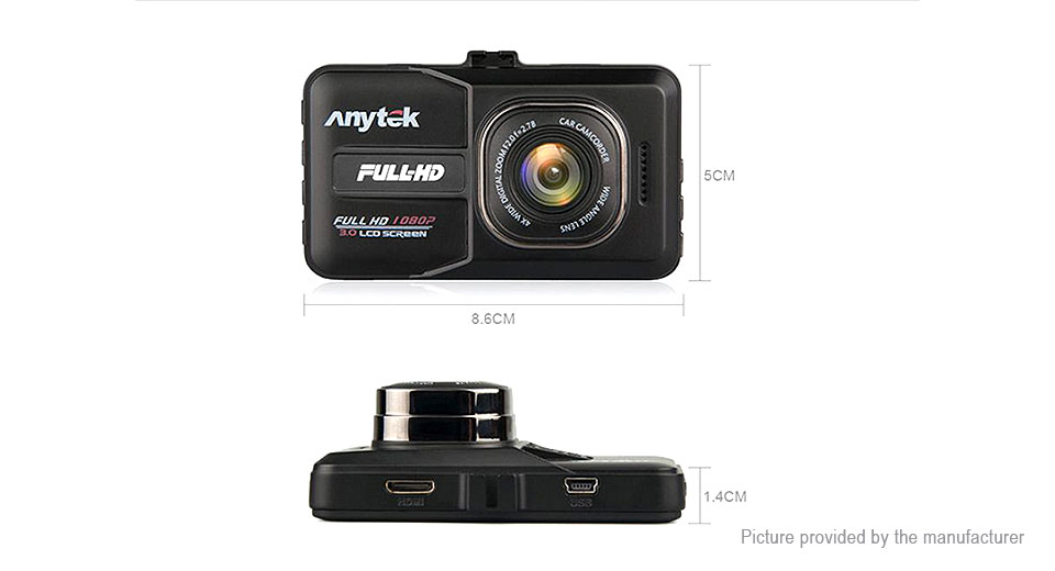 "Anytek A98 3"" TFT 1080p HD Car DVR Camcorder"