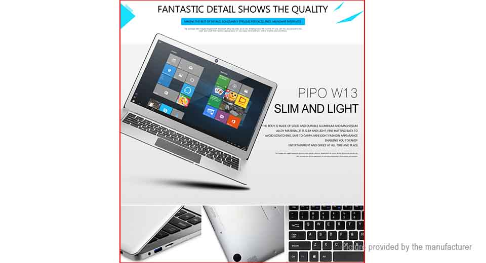 "PiPO Work W-13 13.3"" IPS Quad-Core Tablet PC (64GB/US)"