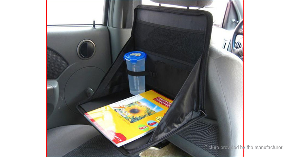 Foldable Car Back Seat Drink Stand Holder Dining Tray Food Table