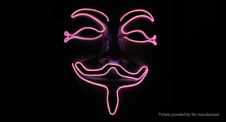 EL Light Up Face Mask Costume Party Prop