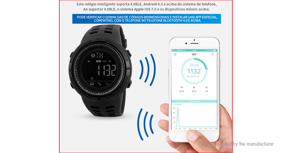 Authentic Skmei 1250 Unisex Bluetooth V4.0 Sports Smart Watch