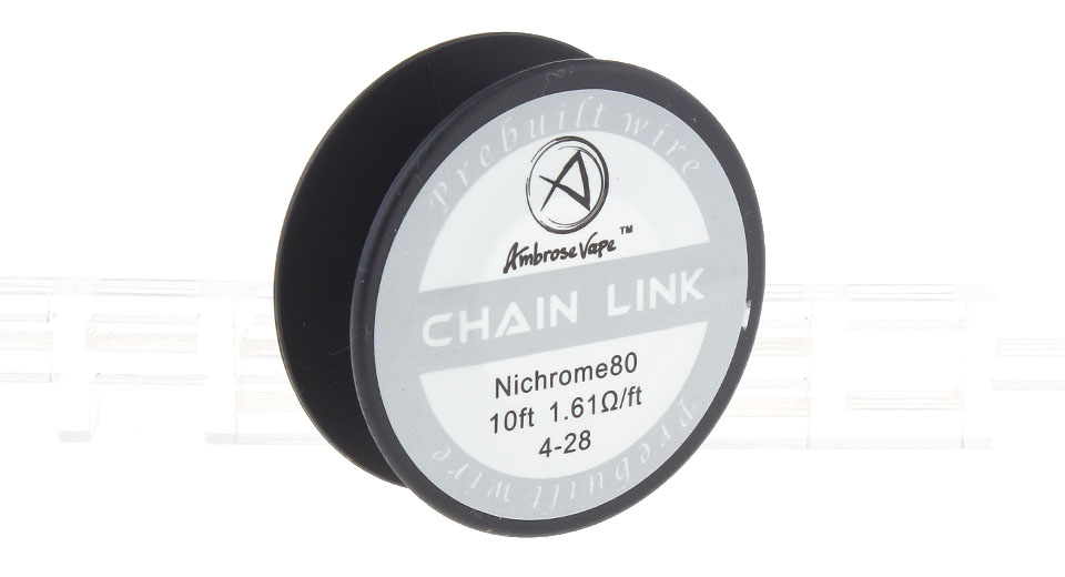 $3.14 Authentic Ambrose Vape Ni80 Chain Link Heating Wire - 28*4 AWG ...