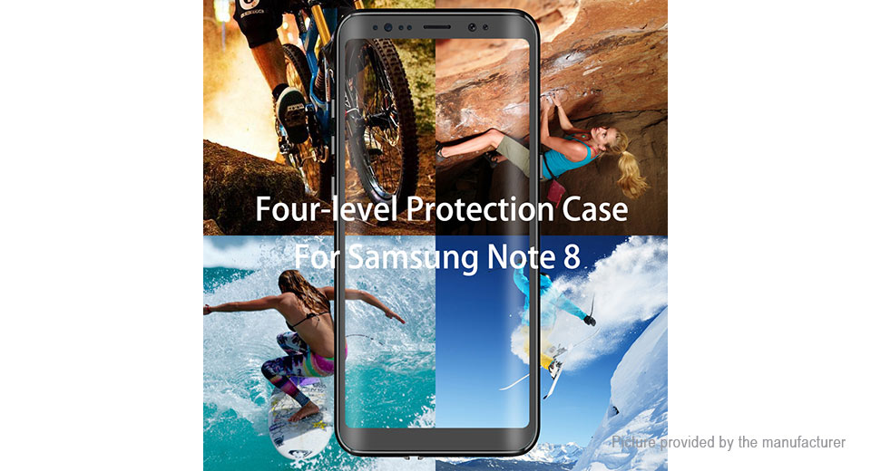 PC + Silicone Full Body Protective Case Cover for Samsung Galaxy Note 8