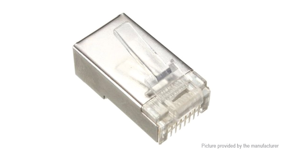 RJ45 8P8C Cat 6 Network Modular Plug Connector (50-Pack)