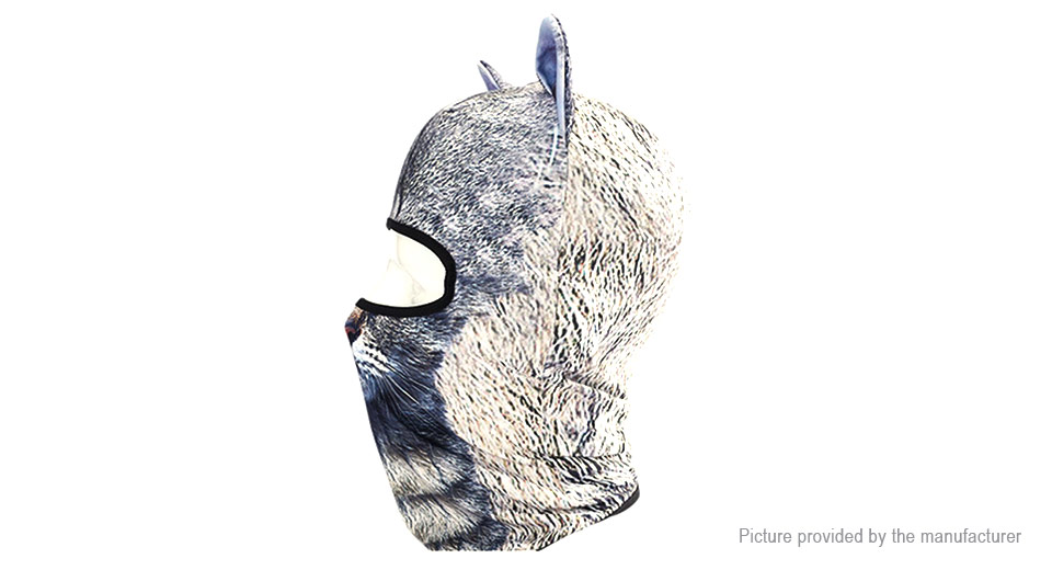 Qinglonglin 3D Animal Ear Styled Unisex Motorcycle Face Mask Hat Cap Balaclava Scarf