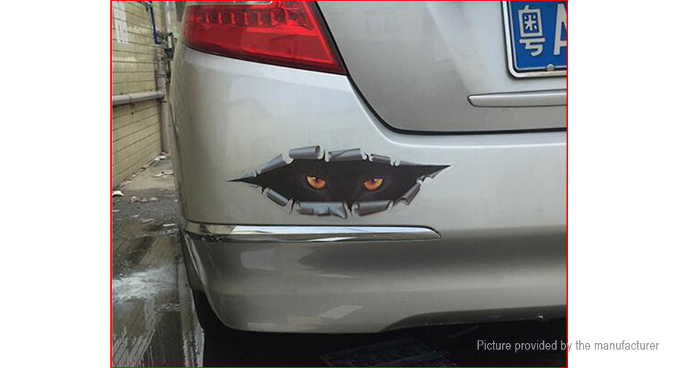 Man Women Cat Styled Car Decal Sticker Decoration (3 Pieces)