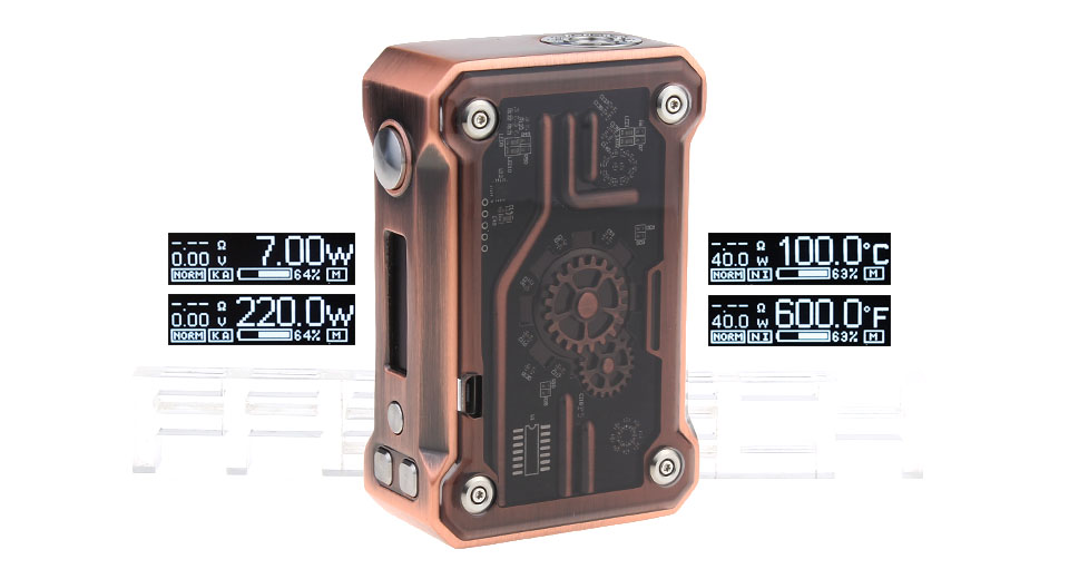 Product Image: authentic-teslacigs-punk-220w-tc-vw-apv-box-mod