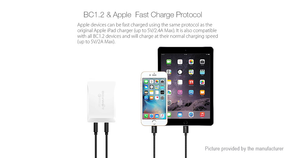 BlitzWolf BW-S7 40W 5-Port USB Wall Charger Power Adapter (AU)