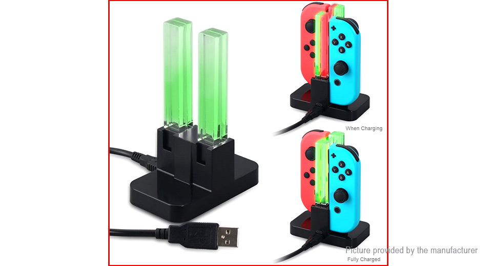 DOBE TNS-875 4-Bay Charging Dock for Nintendo Switch Controller
