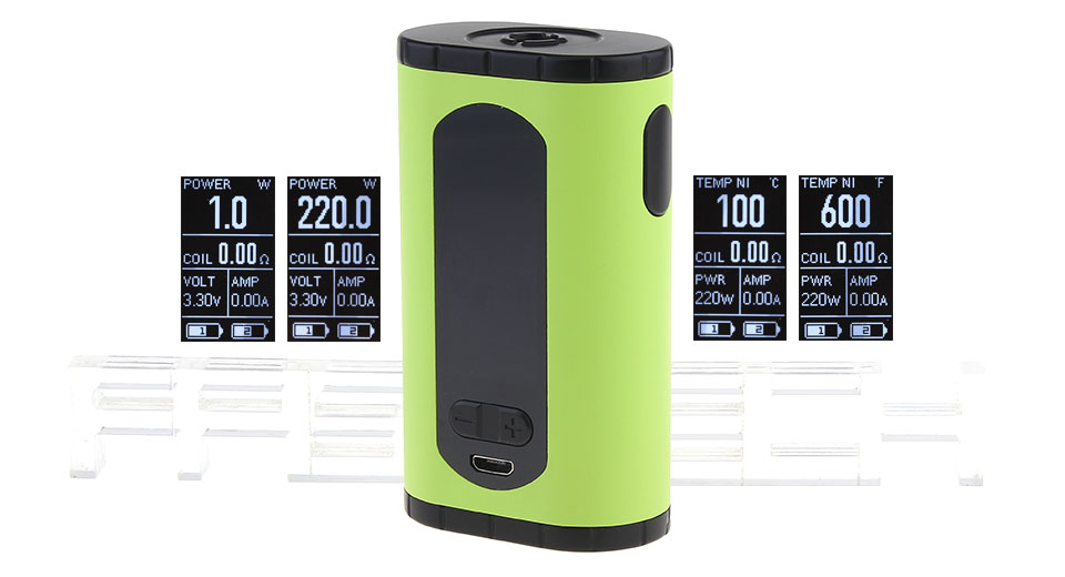 Authentic Eleaf Invoke 220W TC VW APV Box Mod
