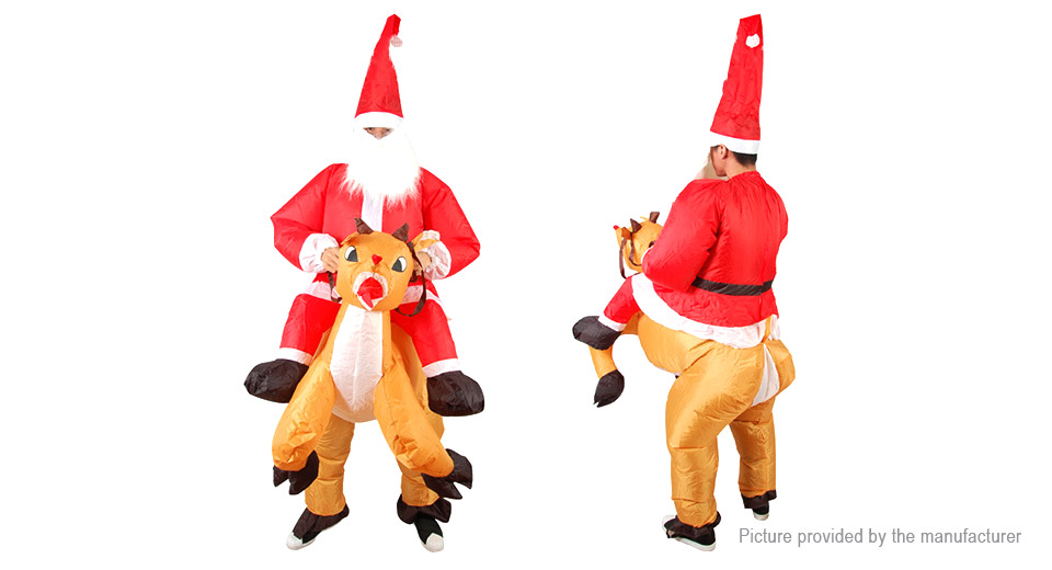 $34.82 Inflatable Santa Riding Deer Styled Ride-on ...