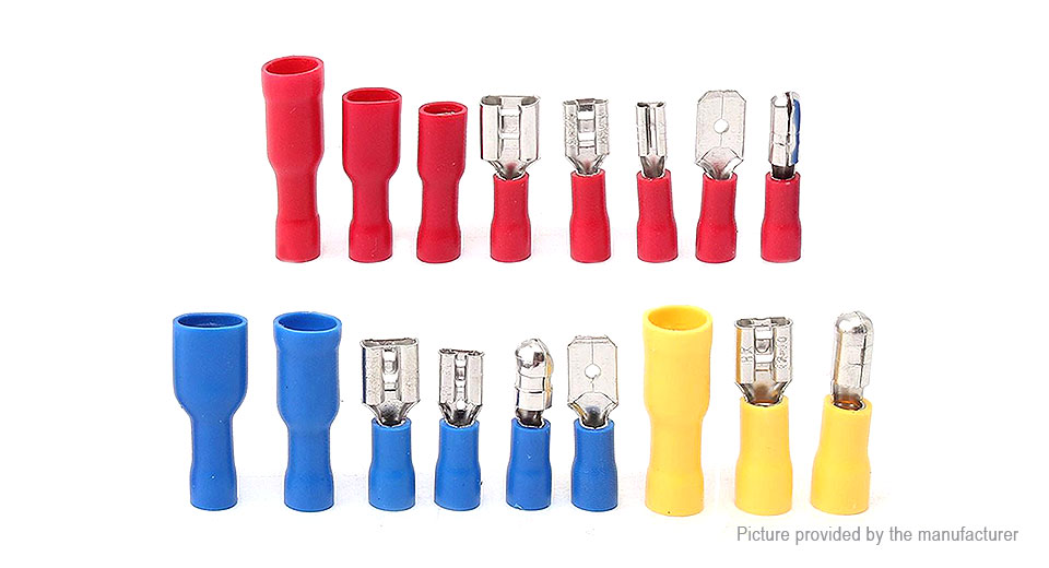 $5.18 Assorted Insulated Crimp Butt Spade Terminal Wire Connector ...
