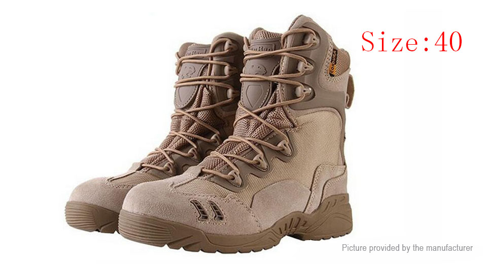 Favoloso $22.88 ESDY Men's Outdoor Tactical Military Lace-up Desert Combat  HJ54