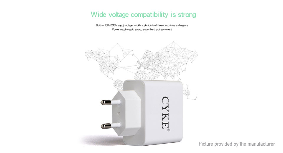 CYKE HKL-USB32 3-Port USB Travel Wall Charger Power Adapter
