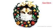 50cm Christmas Ball Bell Garland Wreath Door Wall Christmas Decoration