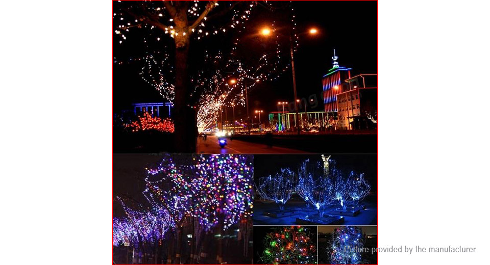 solar powered christmas decorative string fairy lights 22m