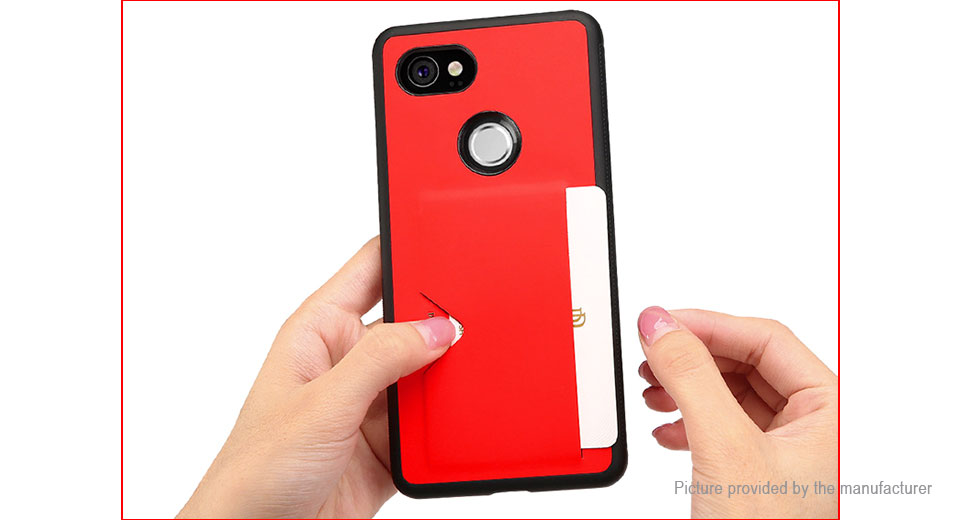 finest selection 17d1f 29927 $5.55 DUX DUCIS TPU + Leather Protective Back Case Cover for Google Pixel 2  XL - authentic / w/ card holder at FastTech - Worldwide Free Shipping