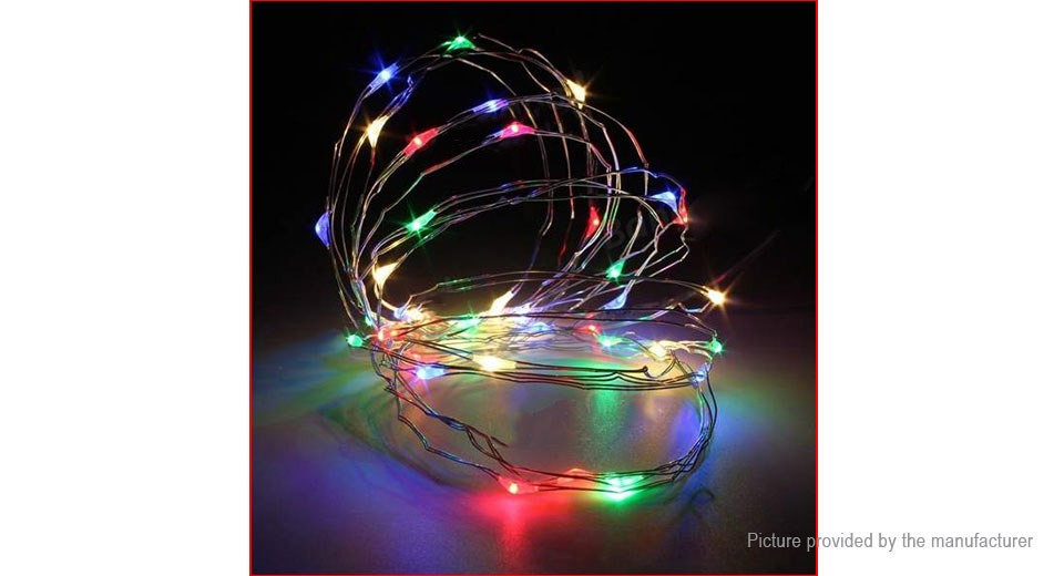 100*LED Battery Powered Copper Wire Fairy String Light Christmas Decor (10m)