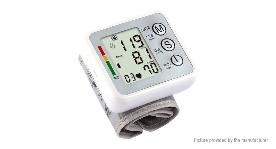 Electric LCD Digital Wrist Blood Pressure Monitor Sphygmomanometer