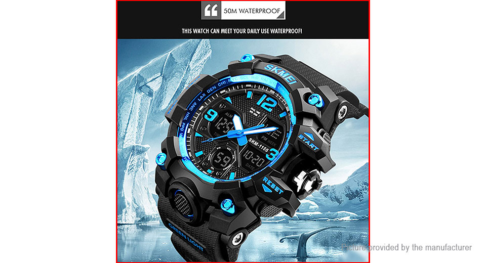 Authentic Skmei 1155B Men's Outdoor Sports LED Digital Wrist Watch