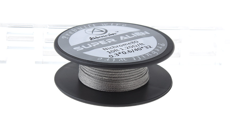 $3.51 Authentic Ambrose Vape Ni80 Heating Wire - 40*32 AWG / 0.08mm ...