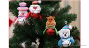 Bell Snowmen Styled Hanging Ornament Christmas Decor (2-Pack)
