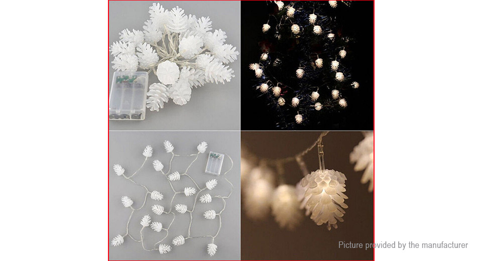 Pine Cone Styled Christmas Decorative LED Fairy String Light (2m)