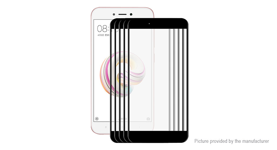 Hat.Prince 3D Tempered Glass Screen Protector for Xiaomi Redmi Note 5A (5-Pack)