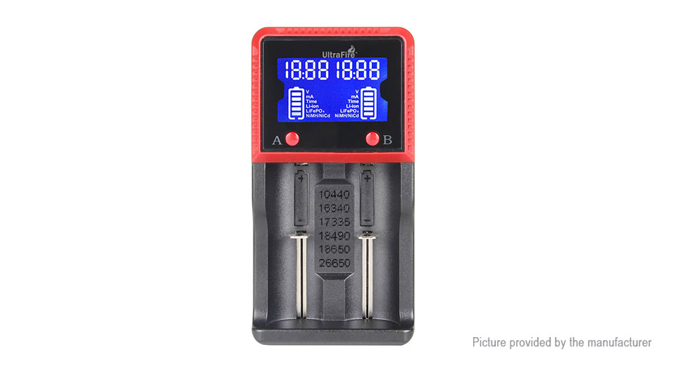 Product Image: authentic-ultrafire-h2-dual-slot-battery-charger