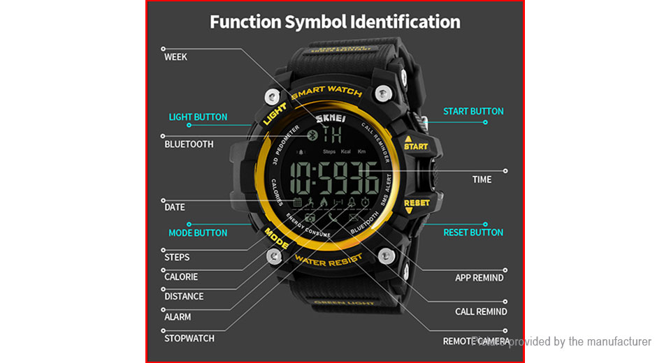 Skmei 1227 Men's Sports Smart Wrist Watch