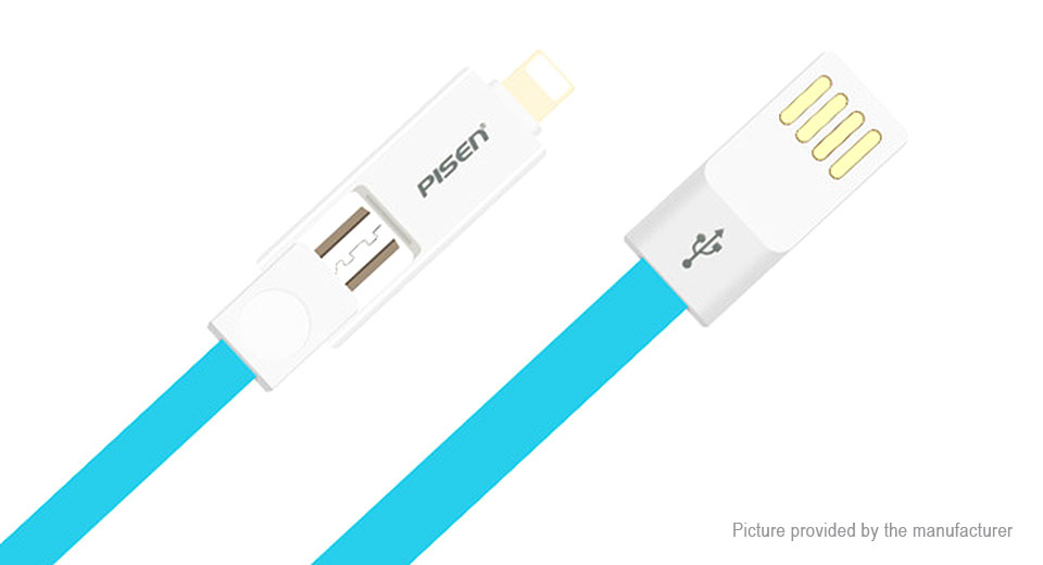 Product Image: authentic-pisen-2-in-1-8-pin-micro-usb-to-usb