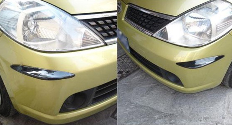 Car Front Rear Bumper Strip PVC Anti-Collision Strip (Pair)