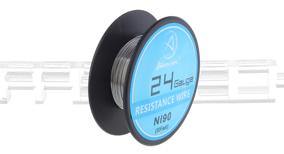 $2.46 Ambrose Vape Ni90 Heating Wire - 24 AWG / 0.5mm dia. / 30ft at ...