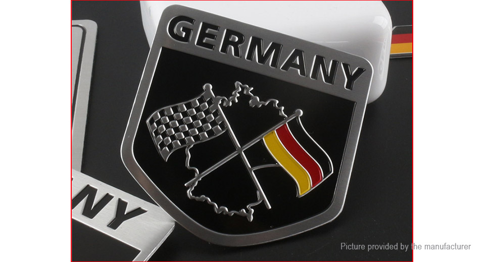 German Flag Styled Car Sticker Decal Decoration (2-Pack)