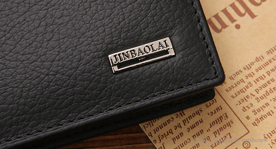 JINBAOLAI Men's Leather Coin Purse Short Wallet Card Holder