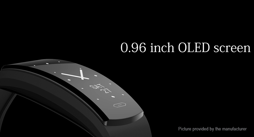 "QS90 0.96"" OLED Touch Screen Smart Bracelet Wristband"