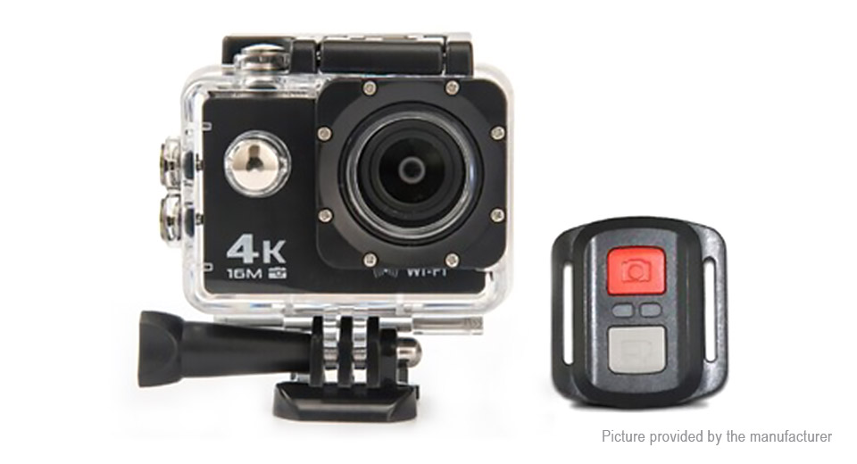 "$29.40 AT-30R 4K Ultra HD Wifi Sports Action Camera - Allwinner V3 chipset / 2"" LCD / 170 degree wide angle fish-eye lens / 16MP / 30m waterproof / up to 64GB microSD / US / remote control at FastTech - Great Gadgets, Great Prices"