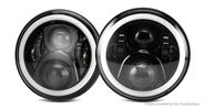 "OL-1640R1 7"" 60W 20*LED 3600LM RGB Car LED Headlight (Pair)"