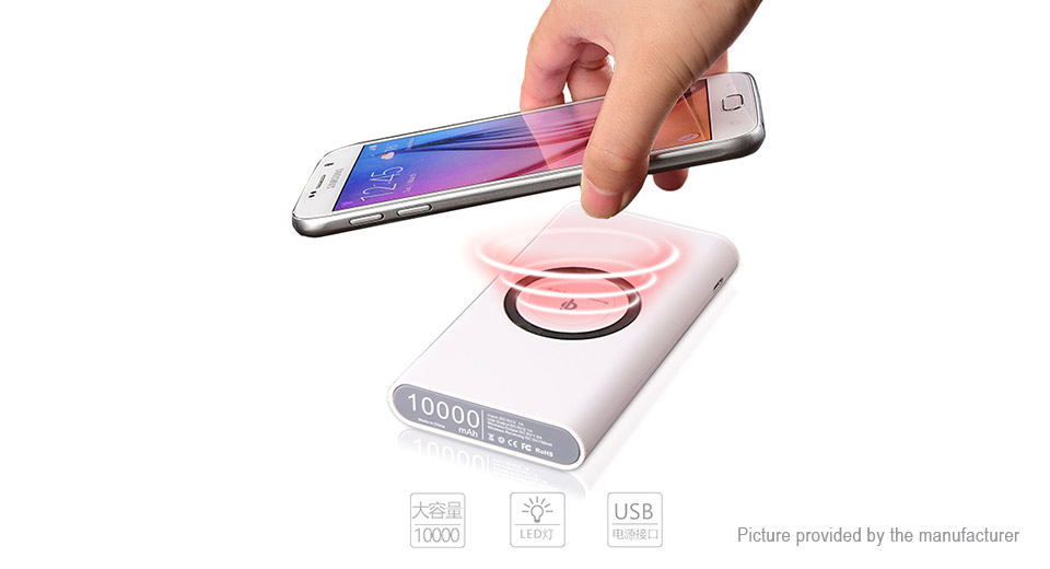 "2-in-1 Qi Inductive Wireless Charger Power Bank (""10000mAh"")"