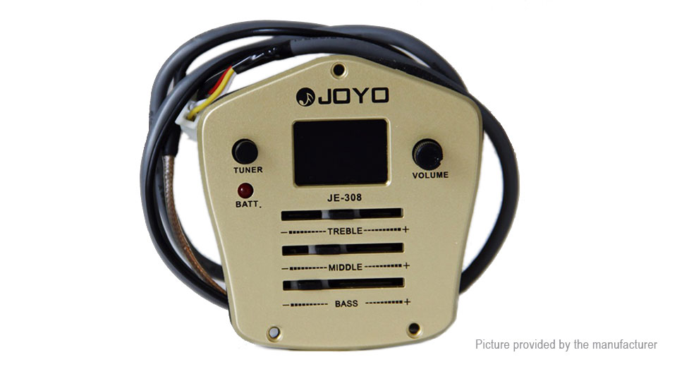 $14 36 Authentic JOYO JE-308 3-Band EQ Equalizer Guitar Piezo Pickup Preamp  Tuner - low voltage indication at FastTech - Worldwide Free Shipping