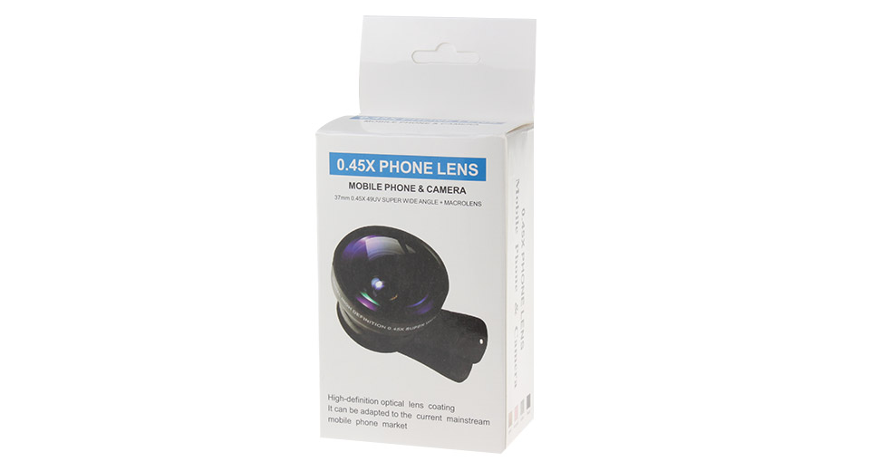 Clip-on 0.45X Macro Lens for Cell Phone & Tablet PC