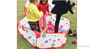 Children's Outdoor Folding Ocean Ball Pit Portable Polka Dots Toy Tent (120cm)