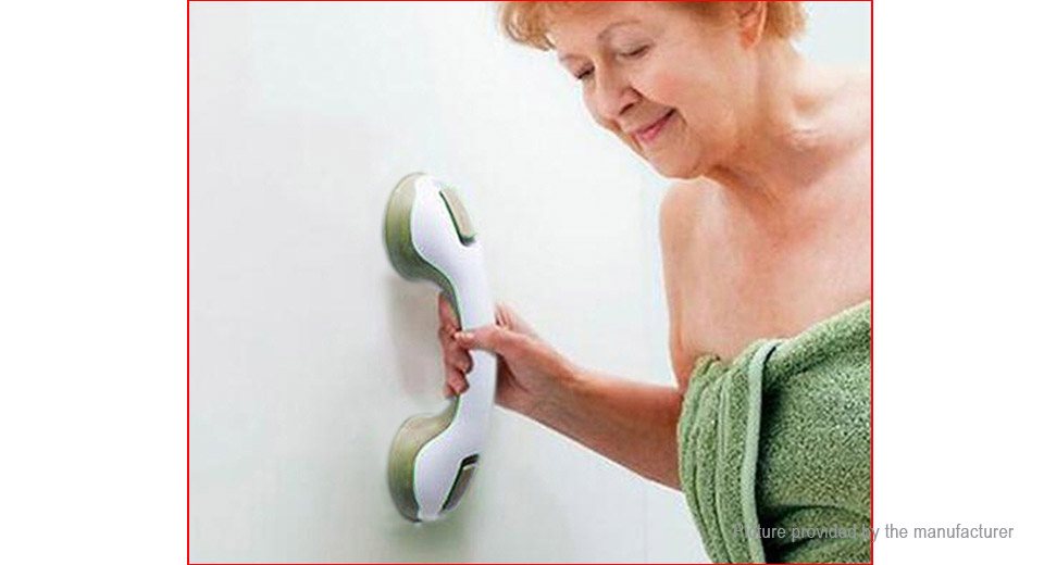 Wall Mounted Anti Slip Safety Handle Suction Cup Bathroom Grab Bar