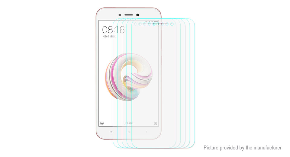Hat.Prince 2.5D Tempered Glass Screen Protector for Xiaomi Redmi Note 5A (5-Pack)