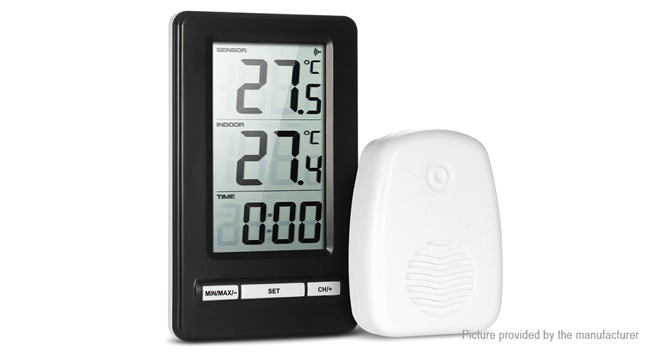 $15.10 TS-WS-47 Wireless Indoor Outdoor Digital Thermometer Alock ...