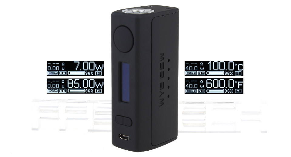 Authentic Teslacigs WYE 85W TC VW APV Box Mod