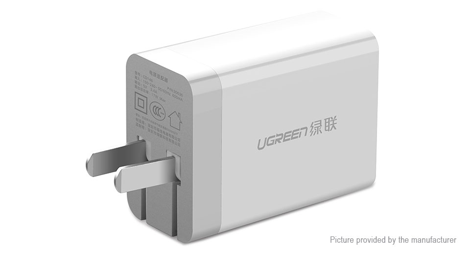 Product Image: ugreen-cd146-dual-usb-wall-charger-power-adapter